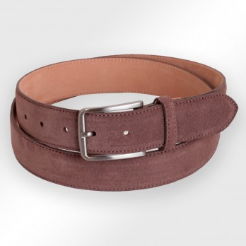 Men's belt in coffee brown suede - Tom