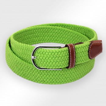 APPLE GREEN ELASTIC BRAIDED BELT