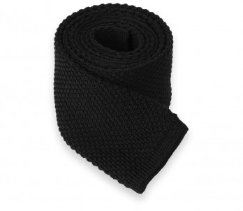 Black Knit Wool Tie - Legnano III