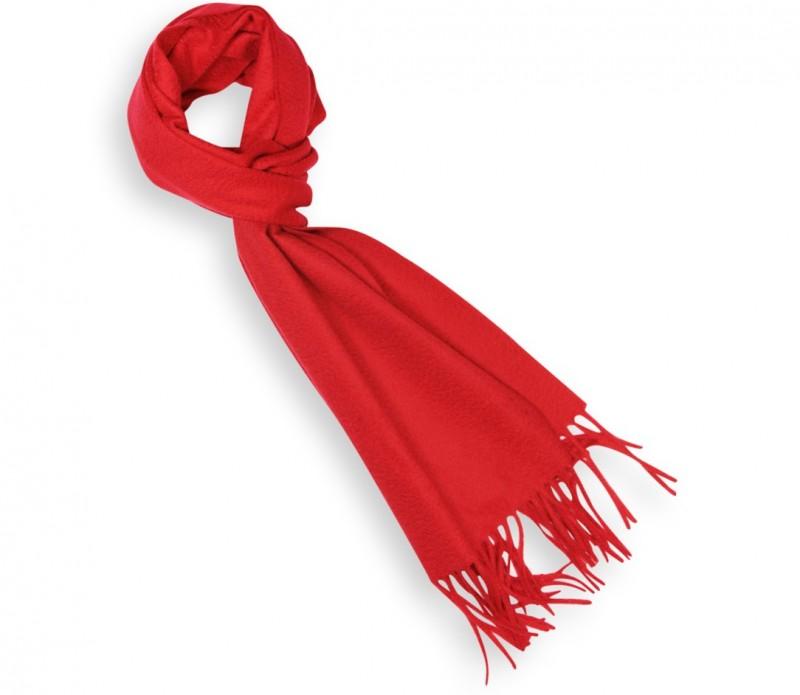 Red Cashmere Scarf - Kashmir