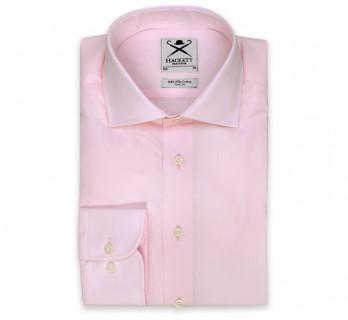 Hackett Slim Fit Pink Poplin Cutaway Button Cuff Shirt