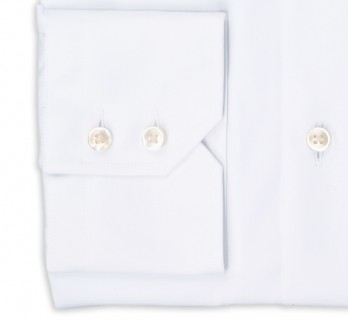 Hugo Boss Regular Fit White Poplin Classic Collar Button Cuff Shirt