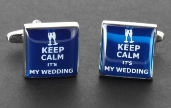 Wedding cufflinks - Keep Calm it's My Wedding