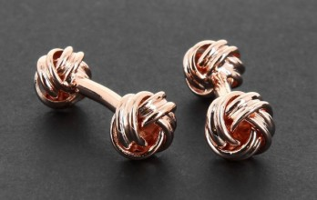 Rose gold sailing knot cufflinks - Montaigne III