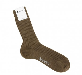 Tobacco virgin wool socks