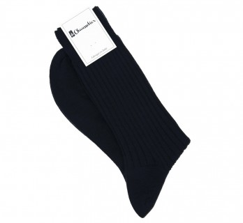 Navy virgin wool socks