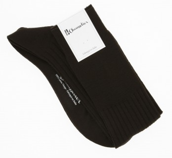 Dark brown pure merino wool knee socks