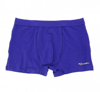 Electric blue boxer shorts