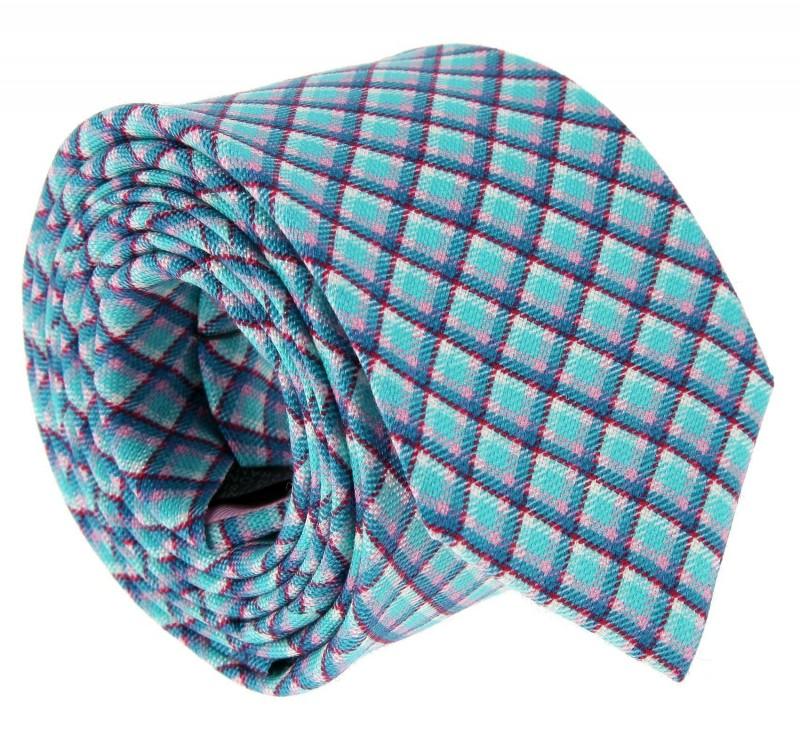 Aqua Green The Nines Tartan Pattern Tie - Ellon