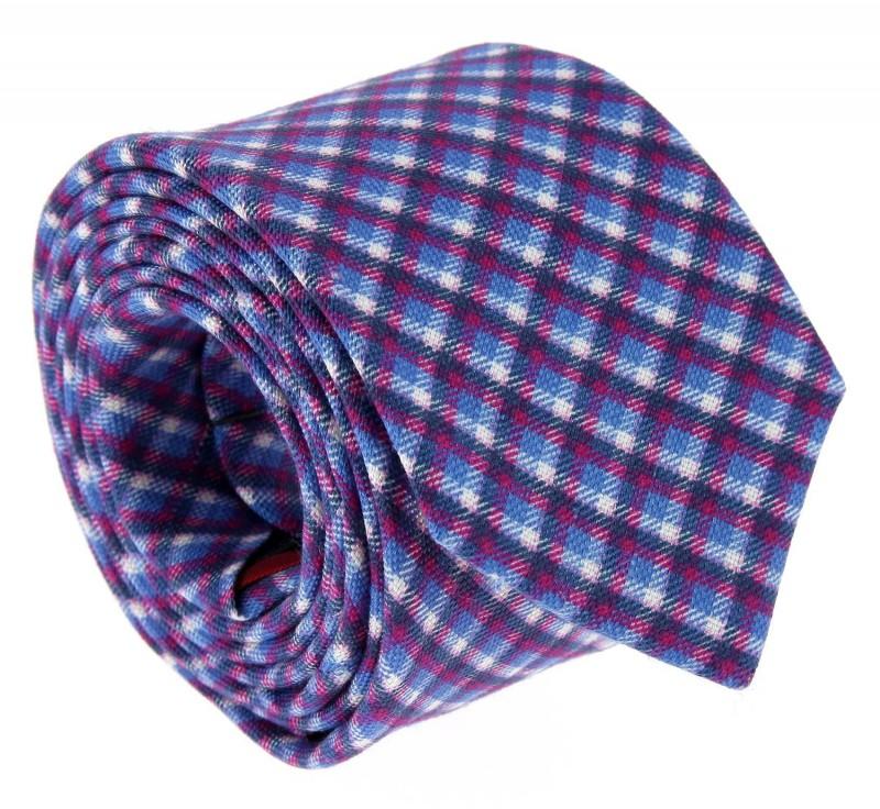 Blue The Nines Tartan Pattern Tie - Ellon