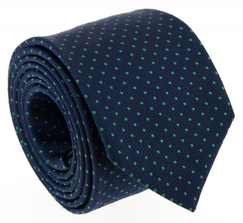 Navy Blue and Green Dots The Nines Tie - Atlanta II