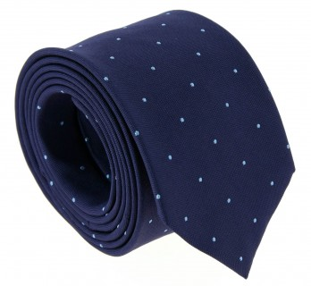 Navy Blue with Light Blue Dots The Nines Tie - Columbus III