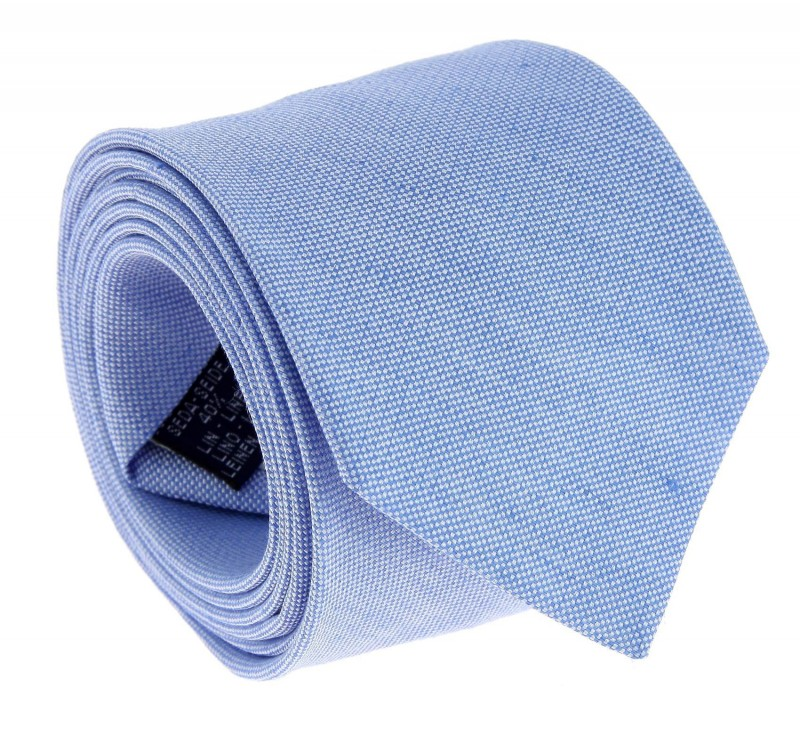 Light Blue The Nines linen and silk Tie - Perugia