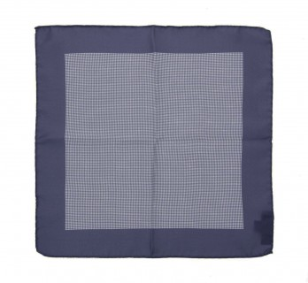 Grey with Houndstooth Pattern Pocket Square - Warren