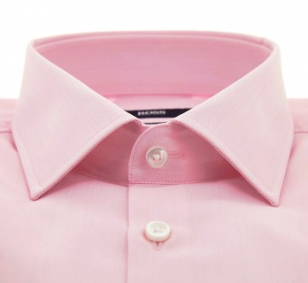 Hugo Boss Slim Fit Pink Dobby Classic Collar Button Cuff Shirt