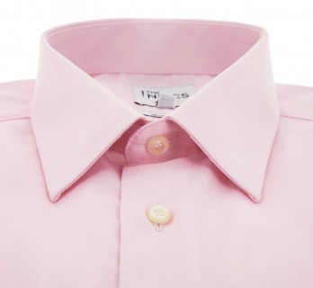 Slim Fit Pink Dobby French Collar Shirt