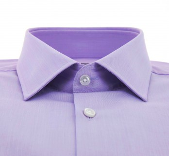 Hugo Boss Slim Fit Violet Dobby Classic Collar Button Cuff Shirt