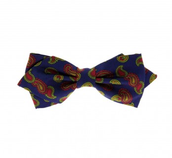 Blue Paisley Design Bow Tie - Mortimer III