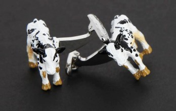 Cow cufflinks - Marguerite