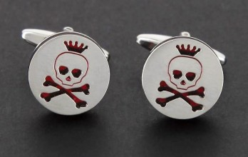 Red skull cufflinks - Santo Domingo III