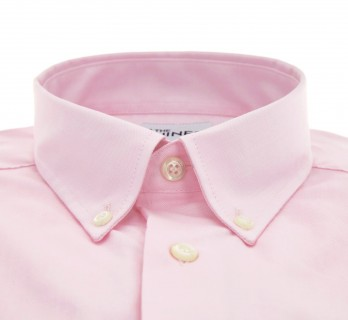 Regular Fit Pink Oxford Button-Down Collar Shirt with Pocket