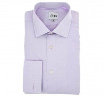 Slim Fit Parma Poplin Classic Collar Double Cuff Shirt