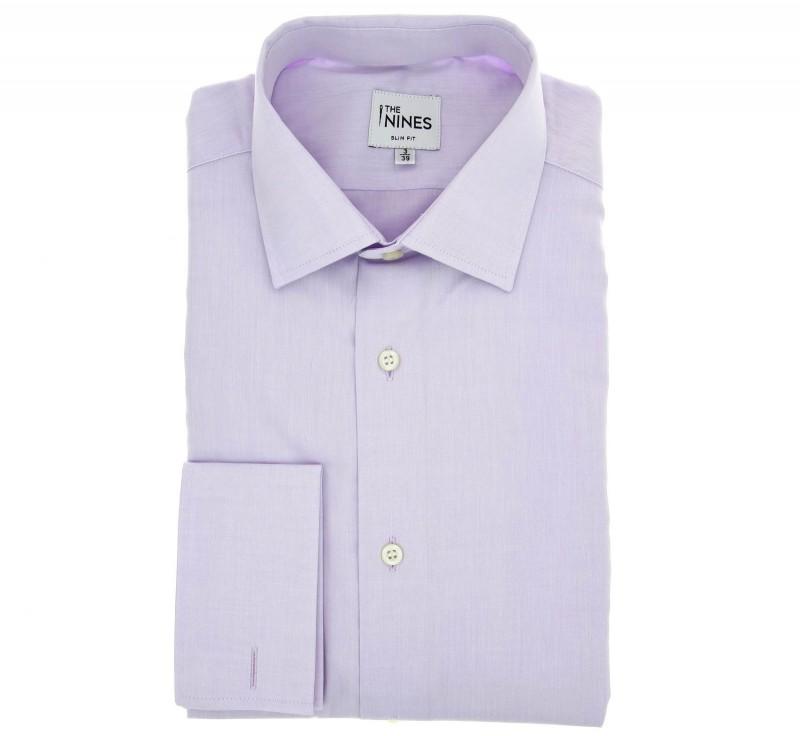 Slim Fit Parma Poplin Classic Collar Double Cuff Shirt