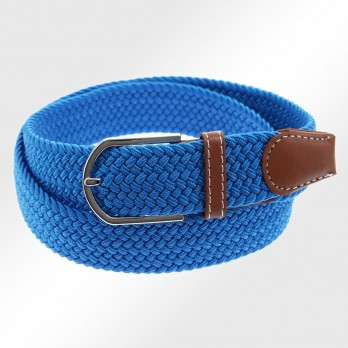 Elastic braided belt in turquoise - Rob