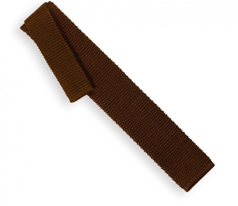 Knit Brown Tie - Monza